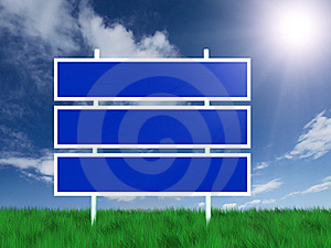 Billboard On Green Grass Stock Images - Image: 8374264