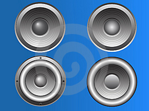 4 Vector Loudspeakers Royalty Free Stock Photography - Image: 8375827