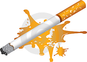 Cigarette And Blood Stock Image - Image: 8375971