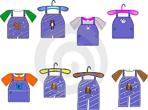 Kids Clothing Illustrations Royalty Free Stock Photography - Image: 8376227