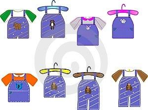 Kids Clothing Illustrations Royalty Free Stock Photography - Image: 8376227