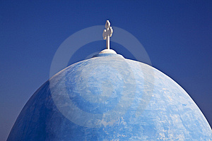 Blue Domed Church, Santorini Stock Images - Image: 8376484