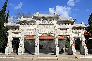 Chinese Traditional Gate Tower Royalty Free Stock Photos - Image: 8376728