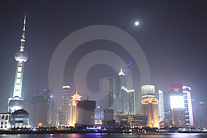 The Bund, Pudong, Shanghai Night Royalty Free Stock Image - Image: 8378456
