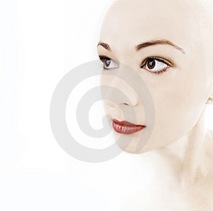 Girl With Porcelain Skin Royalty Free Stock Photo - Image: 8378515