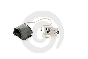 Digital Blood Pressure Monitor Isolated On White B Stock Photos - Image: 8378933