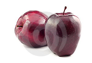Two Red Apples Royalty Free Stock Images - Image: 8379449