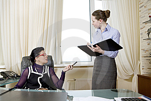 Bisnesswomen Working In Team. Royalty Free Stock Photo - Image: 8379765