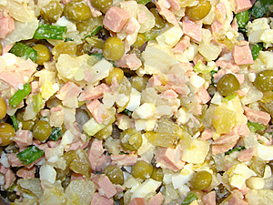 Salad With Pickles And Green Peas Stock Photo - Image: 8380270