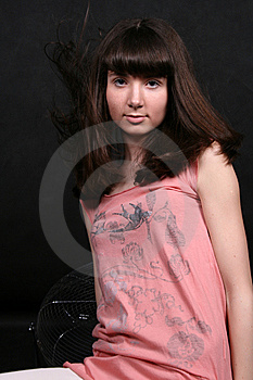 Girl With Waving Hair Royalty Free Stock Photos - Image: 8380308