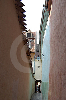 Rope Street, Brasov, Romania Stock Photo - Image: 8380460