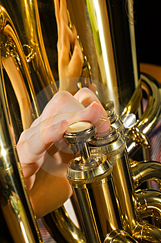 Euphonium Being Played Royalty Free Stock Image - Image: 8380506