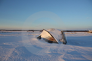 Boat On The Snow Stock Images - Image: 8380674
