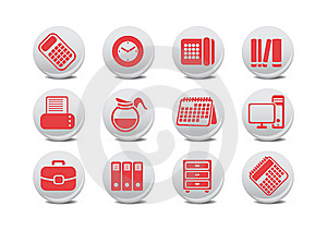 Office Equipment Buttons Royalty Free Stock Image - Image: 8380726