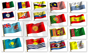 Collage From Flags Royalty Free Stock Image - Image: 8380836