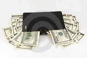 Leather Wallet With Money. Royalty Free Stock Images - Image: 8382149