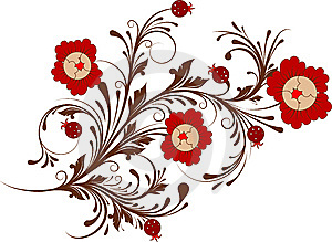 Floral Abstract Design Element. Royalty Free Stock Photography - Image: 8382277