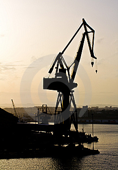 Sunset At The Dockyard Stock Photo - Image: 8382340