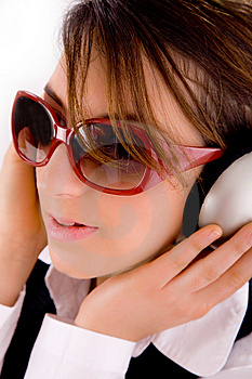 Closeup Of Young Professional Listening Music Stock Photos - Image: 8384453