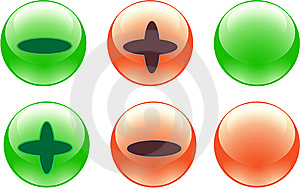 Color Buttons Royalty Free Stock Image - Image: 8384766