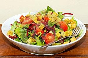 Served Salad Stock Image - Image: 8384821