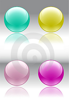 Color Buttons Stock Photos - Image: 8384893