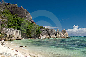 Anse Sours D'Argent Royalty Free Stock Image - Image: 8385276