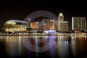 Singapore Skyline Stock Photo - Image: 8385430