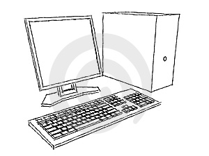 Computer Plans Charcoal Royalty Free Stock Photography - Image: 8388327