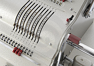 Detail Of An Old Calculating Machine Royalty Free Stock Photo - Image: 8388945