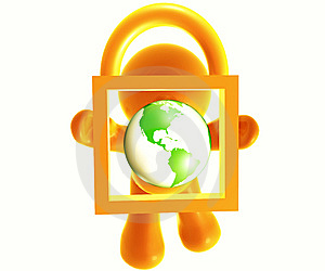 Secure Shopping Icon Royalty Free Stock Photo - Image: 8389005