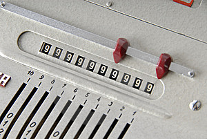 Detail Of An Old Calculating Machine Stock Photo - Image: 8389020