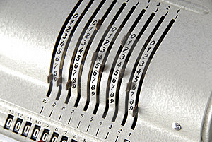 Detail Of An Old Calculating Machine Royalty Free Stock Photos - Image: 8389058