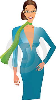 Elegance Blue Woman Stock Photography - Image: 8390282