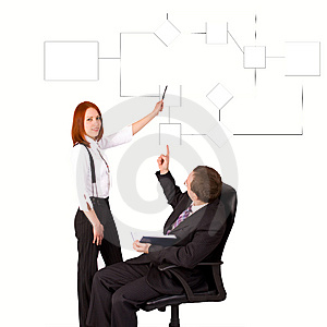 Two People Discussing A Chart Royalty Free Stock Photos - Image: 8390638