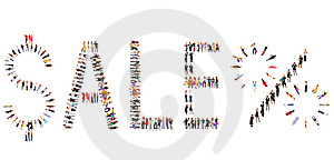 Many People Isolated Over White With Text Royalty Free Stock Photos - Image: 8390678