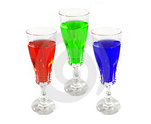 Wine Drink Glasses Colored Stock Photos - Image: 8390943