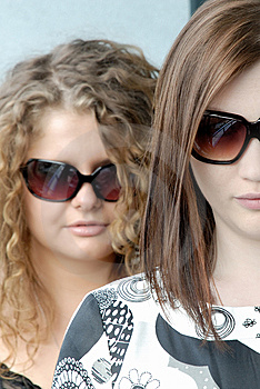 Girls Wearing Glasses Royalty Free Stock Photography - Image: 8391537
