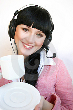 Support Operator Woman Royalty Free Stock Photography - Image: 8391897