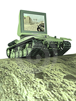 A Tank With A Monitor Stock Photography - Image: 8392292