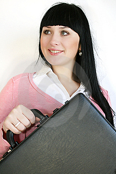 Businesswoman With Briefcase Stock Photos - Image: 8392533