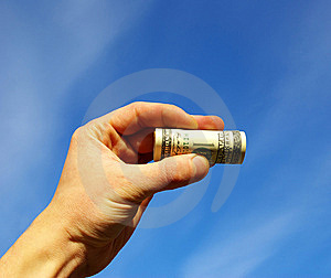 Money In Hand Royalty Free Stock Photos - Image: 8392788