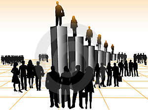 Business People And Graph Royalty Free Stock Images - Image: 8393379