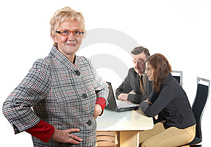 Mature Businesswoman Royalty Free Stock Images - Image: 8393589