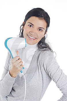 Drying Hair Stock Photo - Image: 8394810