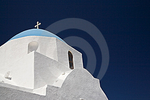 Blue Domed Church, Santorini Royalty Free Stock Photo - Image: 8395085