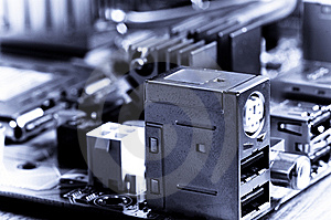 Close-up Mother Board Background Royalty Free Stock Image - Image: 8395356