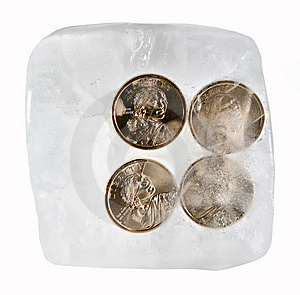Frozen Currency Stock Photo - Image: 8395700