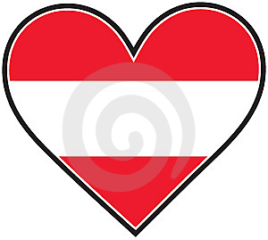 Austria Heart Flag Royalty Free Stock Image - Image: 8396456
