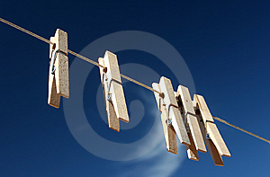 CLOTHES PINS Royalty Free Stock Photos - Image: 8397088